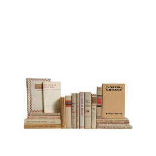 Oat & Melon Midcentury MIX : Set of Twenty Decorative Books