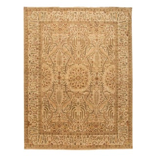 """Contemporary Indian Tabriz Rug, 12'3"""" X 16'2"""" For Sale"""