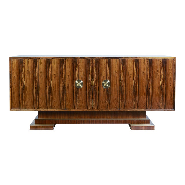 Old Growth Brazilian Rosewood Sideboard- 2nd of Only Two Available in This Rare Material For Sale
