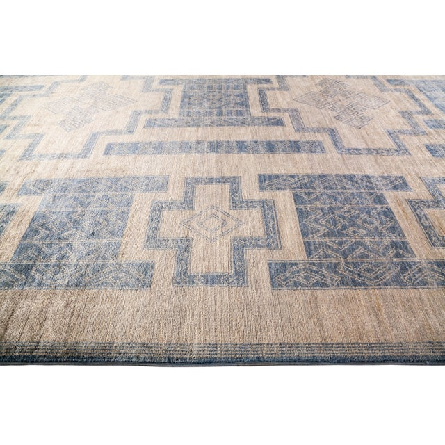 """Bohemian Hand-Knotted Area Rug 7' 10"""" x 10' 0"""" For Sale - Image 4 of 9"""
