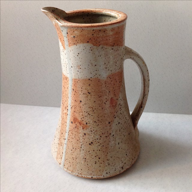 Rustic Modern Studio Pottery Raku Pitcher - Image 2 of 10