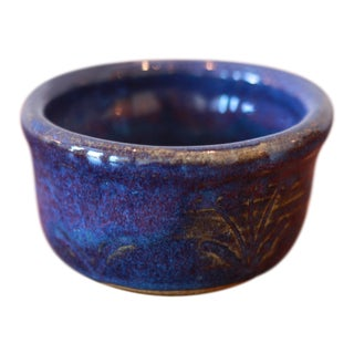 Hand Painted Glossy Glaze Studio Pottery Ceramic Vessel For Sale