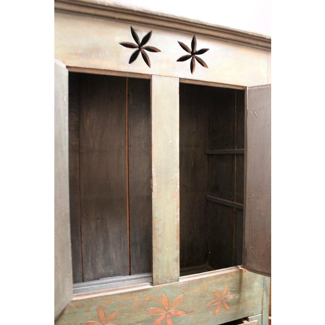 Vintage Distressed Brazilian Armoire For Sale In New York - Image 6 of 11