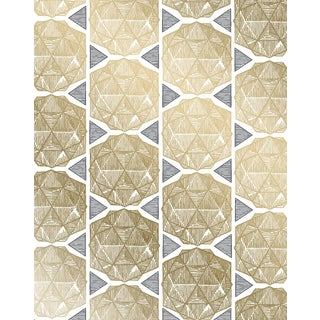 Escher Gold Wallpaper - 1 Double Roll For Sale