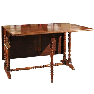19th Century Walnut French Gateleg Table