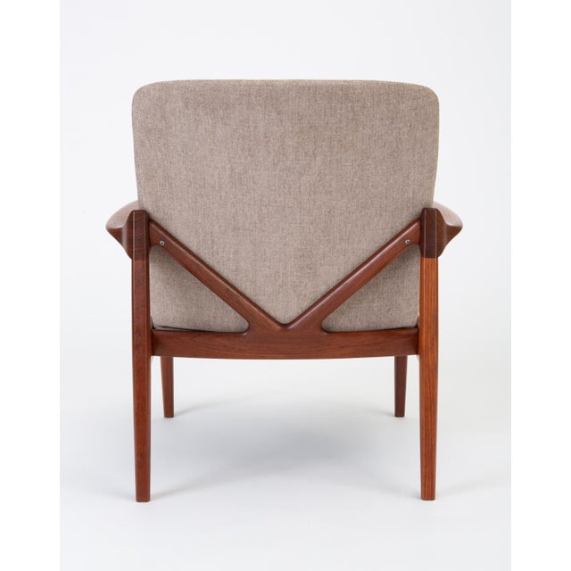 Model 125 Lounge Chair by Tove & Edvard Kindt-Larsen for France & Son For Sale In Los Angeles - Image 6 of 13
