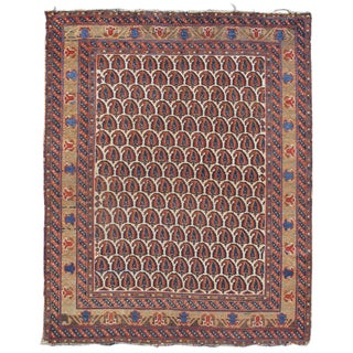 Afshar Boteh Wool Rug - 3′10″ × 4′9″ For Sale