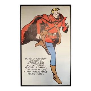 Lee Falk 1965 Flash Gordon Book Guild Poster For Sale