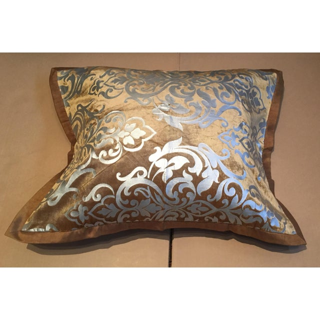 Gold and Silver Foiled King Sized Blanket, Sham, and Accent Pillow Cover - Set of 3 - Image 4 of 5