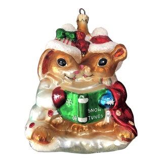 Christopher Radko Woodland Wins Snow Tunes Christmas Ornament For Sale
