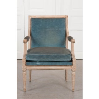 19th Century French Louis XVI Style Painted Fauteuil Chair Preview