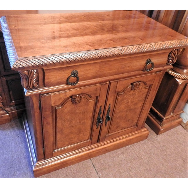 Luxury Cherry Nightstand (Part 6 of a 6-Piece Set) - Image 2 of 7