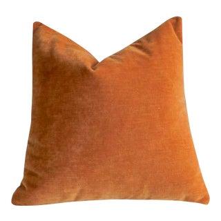 Apricot Velvet Pillow Cover 22x22 For Sale