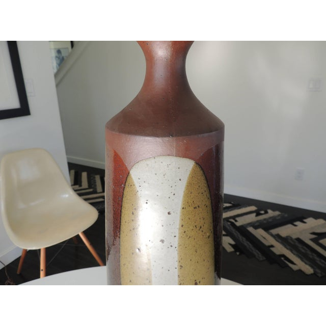 Red 1960s David Cressey Pottery Table Lamp For Sale - Image 8 of 12