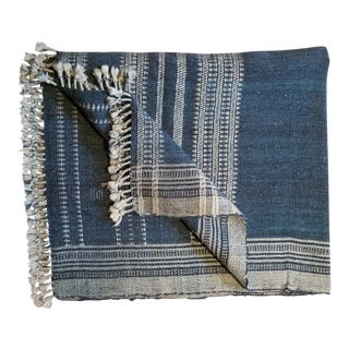 Hand Woven Wool Throw Bed Cover For Sale