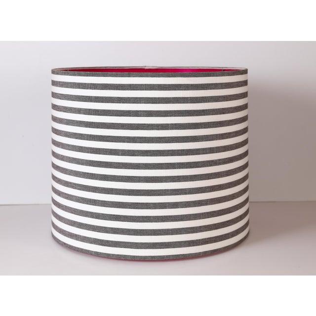 Coastal Maison Maison Striped Drum Lampshades For Sale - Image 3 of 3