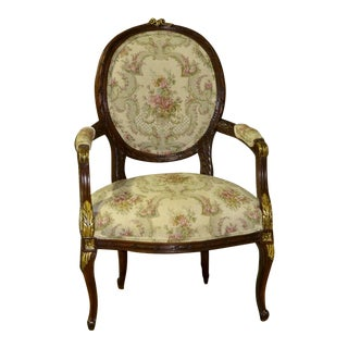 Vintage Ornate Italian Style Chair For Sale