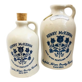 1960s Henry McKenna Kentucky Whiskey Jugs - Set of 2 For Sale