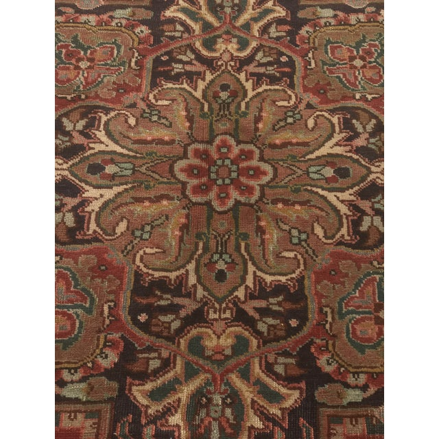 """Thick & Hearty Vintage Persian Ahar Area Rug - 7'3"""" x 10'5"""" - Image 5 of 11"""
