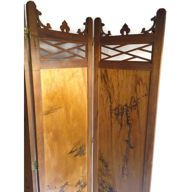 Vintage Chinoiserie Fretwork Privacy Screen - Image 7 of 7