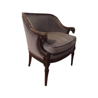 Henredon Carved Ram's Head Louis XVI Club Chair