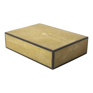 Pale Shagreen & Ebony Box