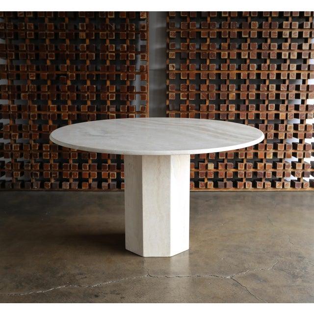 Travertine centre table, circa 1980.