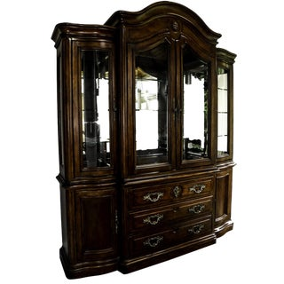 Traditional Hickory White China Cabinet For Sale