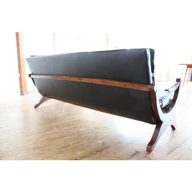 Vintage Black Tufted Sofa- Low Profile - Image 3 of 8