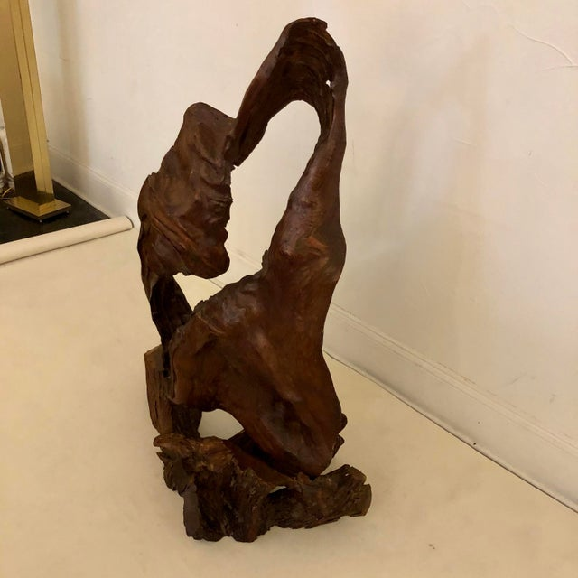 Mid-Century Modern Redwood Naturally Formed Sculpture For Sale - Image 3 of 11