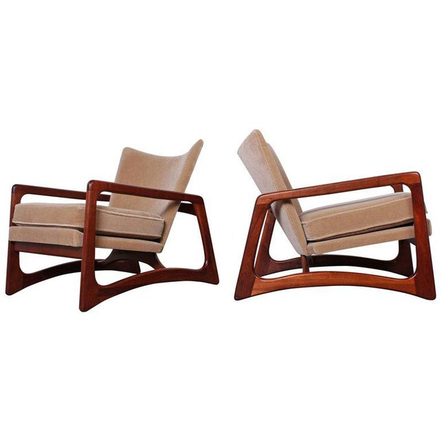 Pair of Lounge Chairs by Adrian Pearsall For Sale - Image 11 of 11