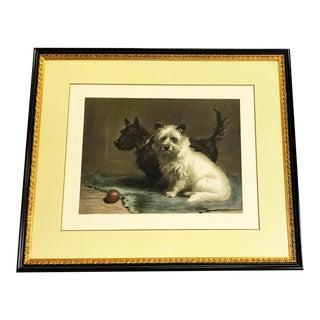 "Margaret Collyer Print of ""Scottie & Khaki"" Circa 1906 For Sale"