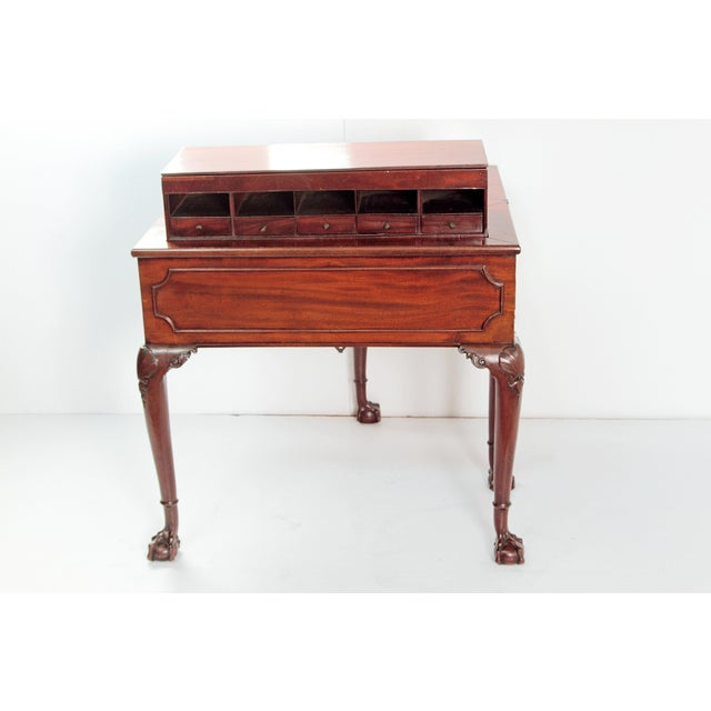 A George II Mahogany Harlequin Table For Sale - Image 9 of 13