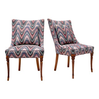 Grosfeld House Slipper Occasional Chairs or Dining Chairs - Pair For Sale