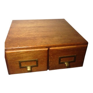 Early Twentieth Century Wooden Library Card Catalog For Sale