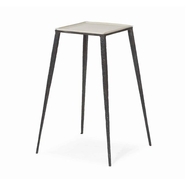 Brutalist Century Lift Square Accent Table For Sale - Image 3 of 3
