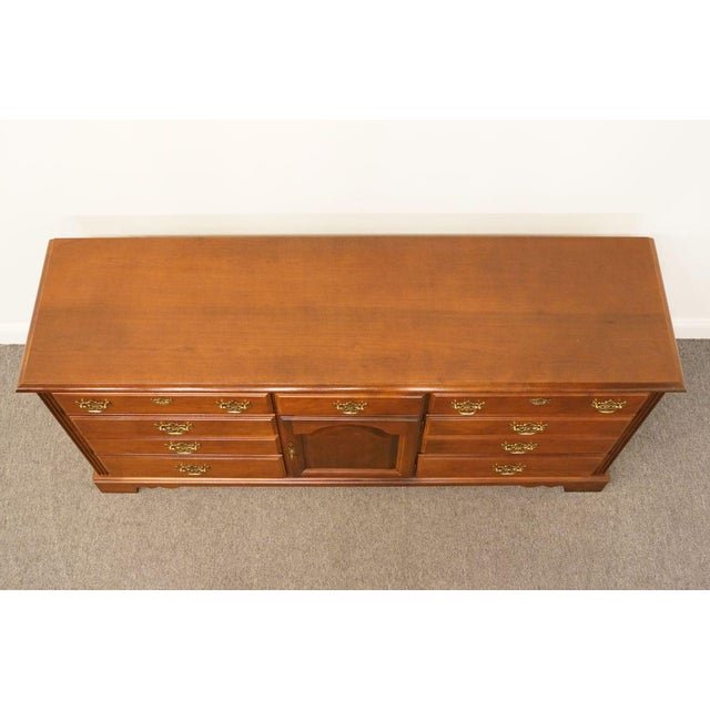 Broyhill Late 20th Century Broyhill Cherry Triple Door Dresser For Sale - Image 4 of 13