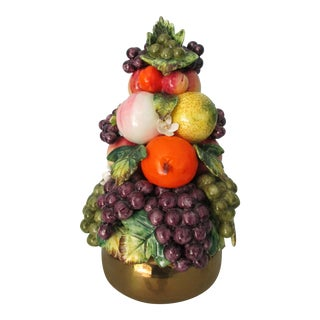 Vintage Mid Century Italian Style Fruit Topiary For Sale