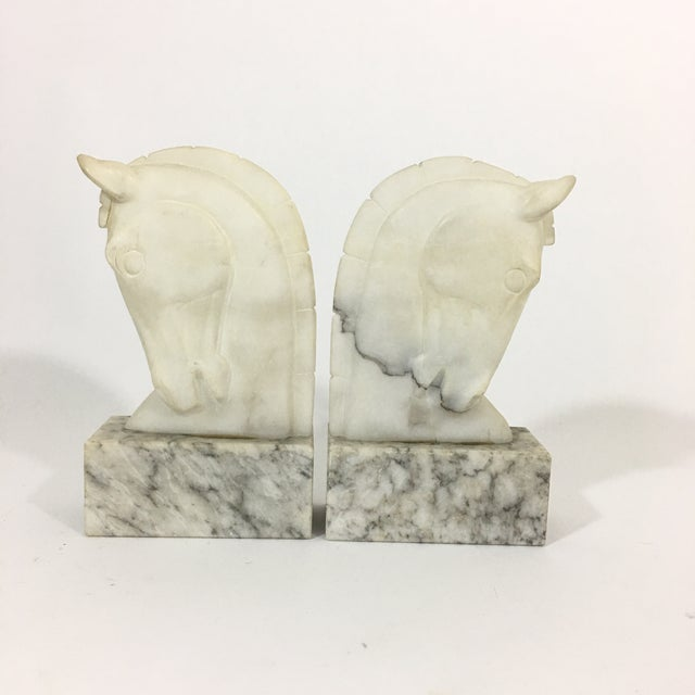 Marble Trojan Horse Head Bookends For Sale - Image 9 of 9