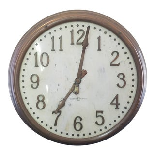 Large 1930's Standard Electric Copper and Marble Face Commercial Clock For Sale