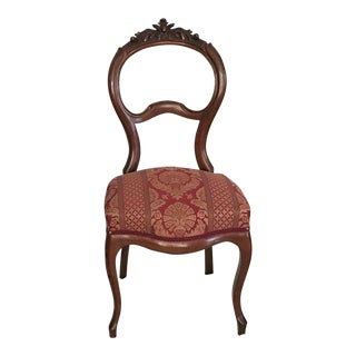 Carved Louis XV Mahogany Balloon Back Chair