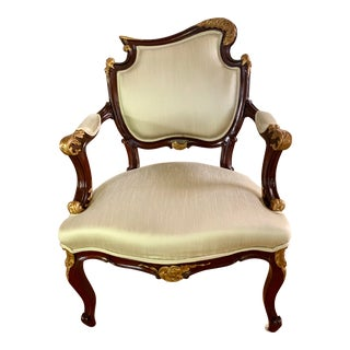 1920s Vintage French Louis XV Style Arm Chair For Sale