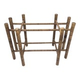 Image of 1980s Boho Chic Rattan Table Base For Sale