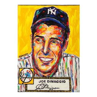 """""""Joe DiMaggio"""" Pop Art Oil Painting by John Stango For Sale"""