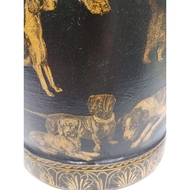 English Antique Bucket / Pail With Decoupage Dogs - Found in Southern England For Sale - Image 12 of 13