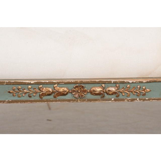 French 19th Century Parcel Gilt Empire Settee For Sale - Image 4 of 12