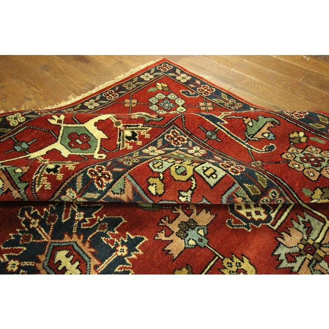 Heriz Oriental Hand Knotted Area Rug - 9'10 x 14' - Image 9 of 10
