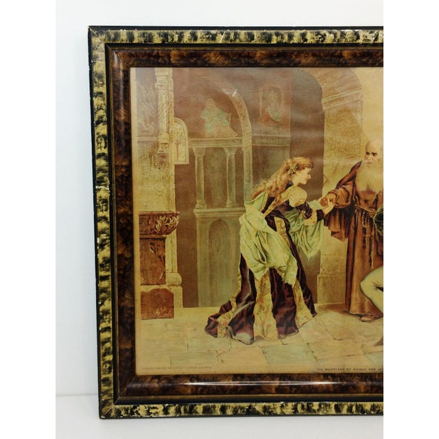 1894 Antique P.O. Vickery Marriage of Romeo and Juliet Art Print - Image 2 of 6