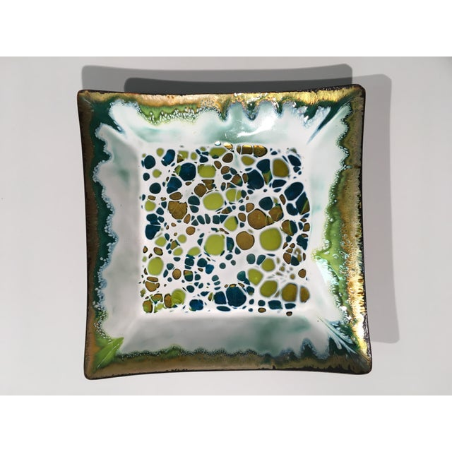 Frank Lee Enameled Copper Dish - Image 2 of 11