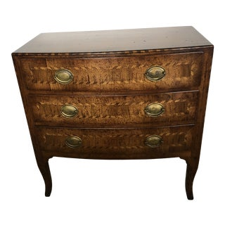 Burled Walnut Chest of Drawers With Beautiful Inlay For Sale